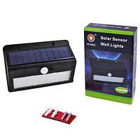 Настенный уличный светильник XF-6012/6011-30SMD, 1x18650, PIR+CDS, солнечн. батарея