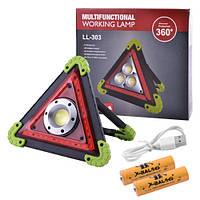 Прожектор светодиодный LL-301/W837-COB+36SMD RED, ЗУ micro USB, 2x18650/4xAA, фото 1