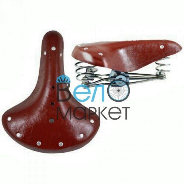 Седло под ретро (коричневое) с пружинами для дорожного велосипеда