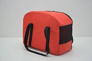 Сумка переноска туннель лежак для котов и собак VIP №1 200х400х310 плюш красная, фото 2