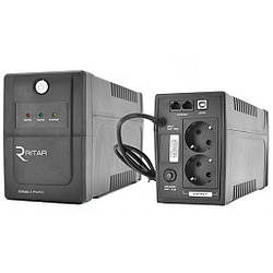 ИБП Ritar RTP600L-U (360W) Proxima-Line Interactive , LED, AVR, 2st, 2xSCHUKO  1x12V7Ah, plastik Case