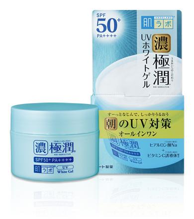 Солнцезащитный гиалуроновый гельHada Labo Koi-Gokujyun UV White Gel SPF50+ PA++++