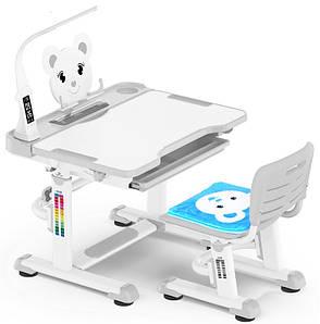 Комплект парта и стульчик Evo-Kids BD-04 Teddy (с лампой)