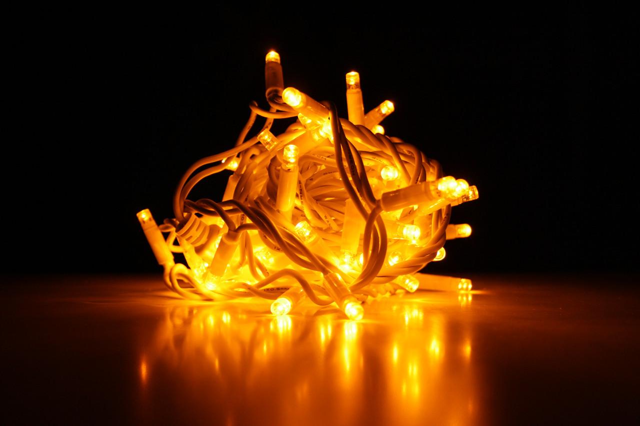 Уличная светодиодная гирлянда нить Lumion String Light (Стринг лайт) 200 led наружная цвет желтый