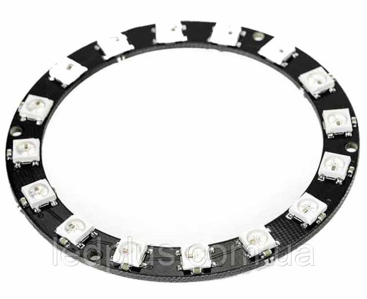 Модуль круглый со светодиодами RGB WS2812 16шт