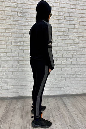 """Подростковый спортивный костюм """"The North Face"""" с лампасами и капюшоном, фото 2"""