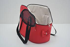 Сумка-переноска для котов и собак VIP №1 420*230*330 плюш красная, фото 2