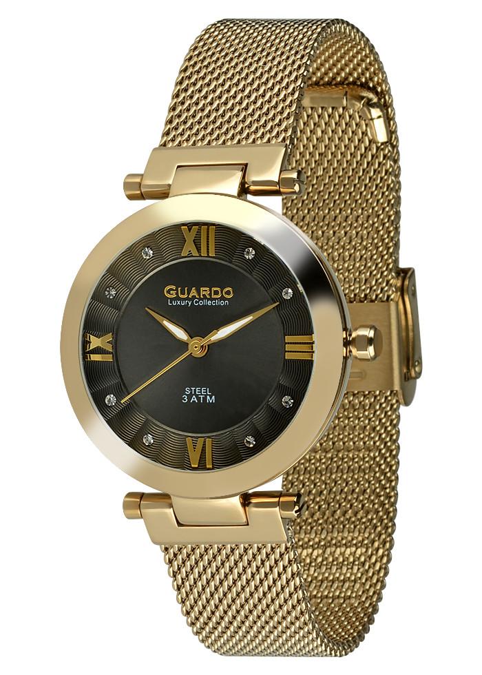 Часы женские Guardo S02071-3 золотые