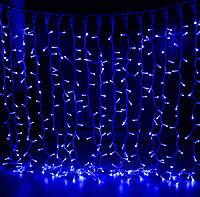 Уличная светодиодная гирлянда Штора Lumion Curtain (2066-DE) 456 led цвет синий без каб пит