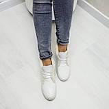 Женские зимние хайтопы белые кожаные WHYNOT, фото 2