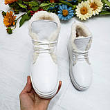 Женские зимние хайтопы белые кожаные WHYNOT, фото 6