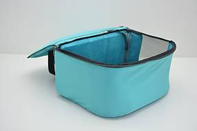 Сумка переноска туннель лежак для котов и собак VIP №1 200х400х310 плюш бирюзовая, фото 2