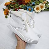 Женские зимние хайтопы белые кожаные WHYNOT, фото 3
