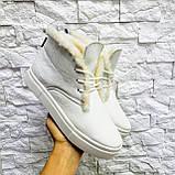 Женские зимние хайтопы белые кожаные WHYNOT, фото 5