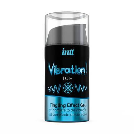 Жидкий вибратор с охлаждающим эффектом Intt Vibration Ice, 15 мл, фото 2