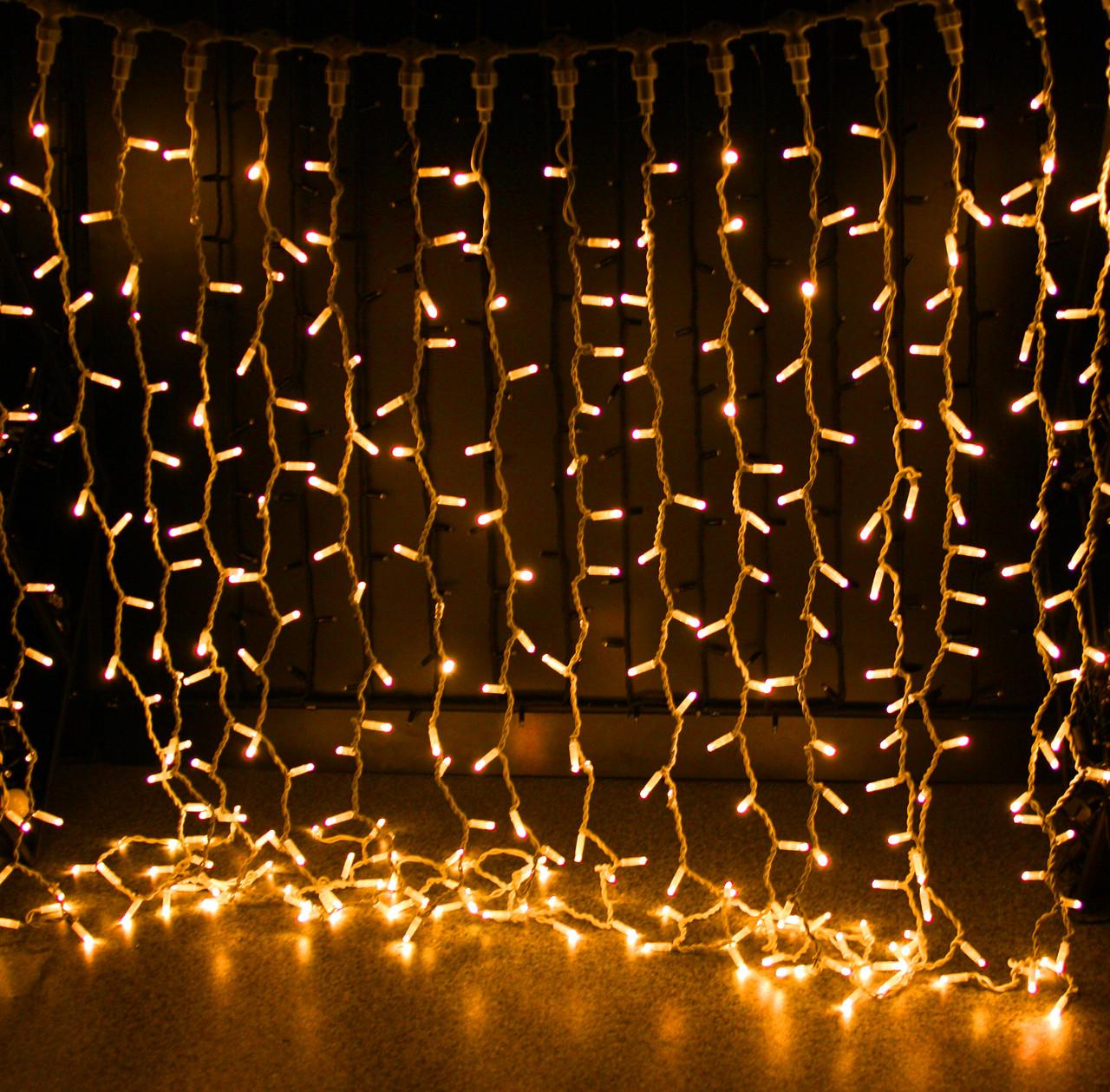 Уличная светодиодная гирлянда Штора Lumion Curtain (2060-DE) 456 led цвет желтый без каб пит.