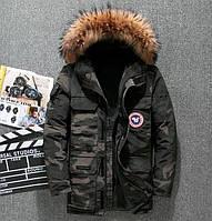 Мужская зимняя куртка АЛЯСКА ПУХОВИК. 2 цвета! Размеры 44-50