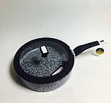 Сковорода-сотейник Edenberg EB-3325 28 см 3.8 л с крышкой и мраморным покрытием, фото 2