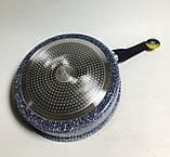 Сковорода-сотейник Edenberg EB-3325 28 см 3.8 л с крышкой и мраморным покрытием, фото 3