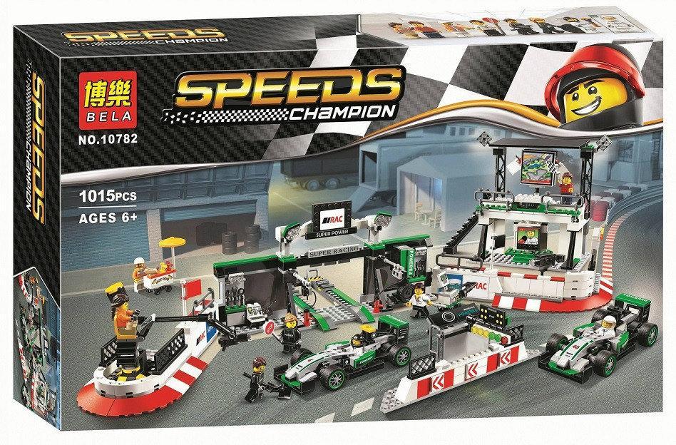 "Конструктор Bela 10782 ""Мерседес команда Формулы-1"" (реплика Lego Speed Champions 75883), 1015 дет"