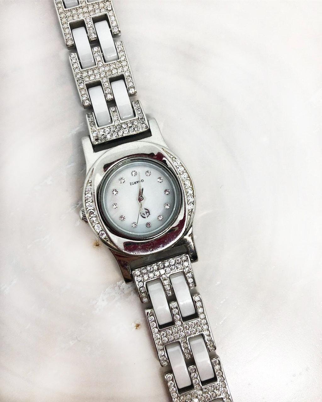 Часы из капельного серебра 925 Beauty Bar со вставками из агата