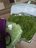 Плед покрывало меховое  Травка Мишка Страус Пушистик  Темно - зеленый, фото 3