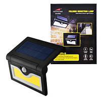 Настенный уличный светильник SH-090B-COB, 1x18650, PIR+CDS, солнечная батарея, фото 1