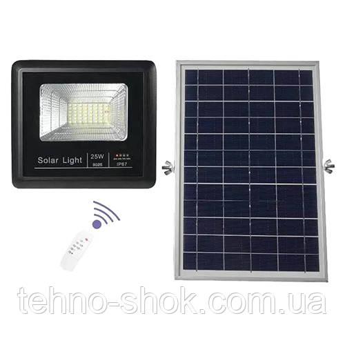 Прожектор 9025 25W SMD, IP67, солнечная батарея, пульт ДУ, встроенный аккумулятор