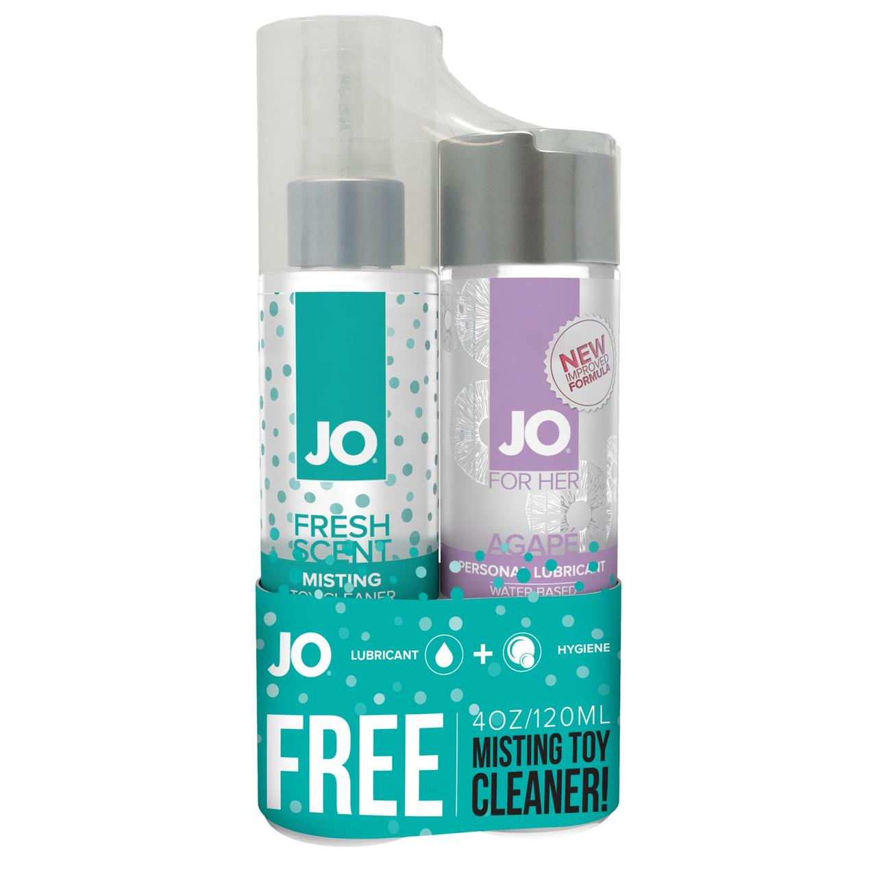 Подарочный набор System JO лубрикант Agape + очиститель для игрушек MistingToy Cleaner