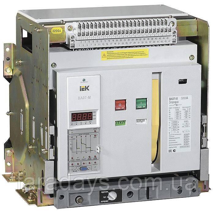 Автоматичний вимикач 3р, 3200A, 80kA (ВА07-М IEK) з комбінованим розчіплювачем, висувне виконання