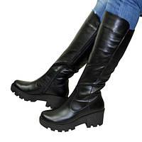 Сапоги кожаные Vasha Para 1709 36 кожа черная