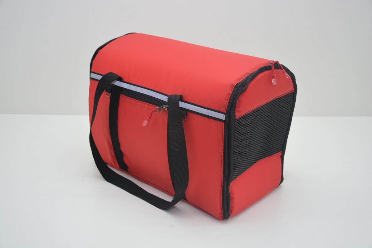 Сумка переноска матрас для собак котов Турист№2 300х500х370  красная