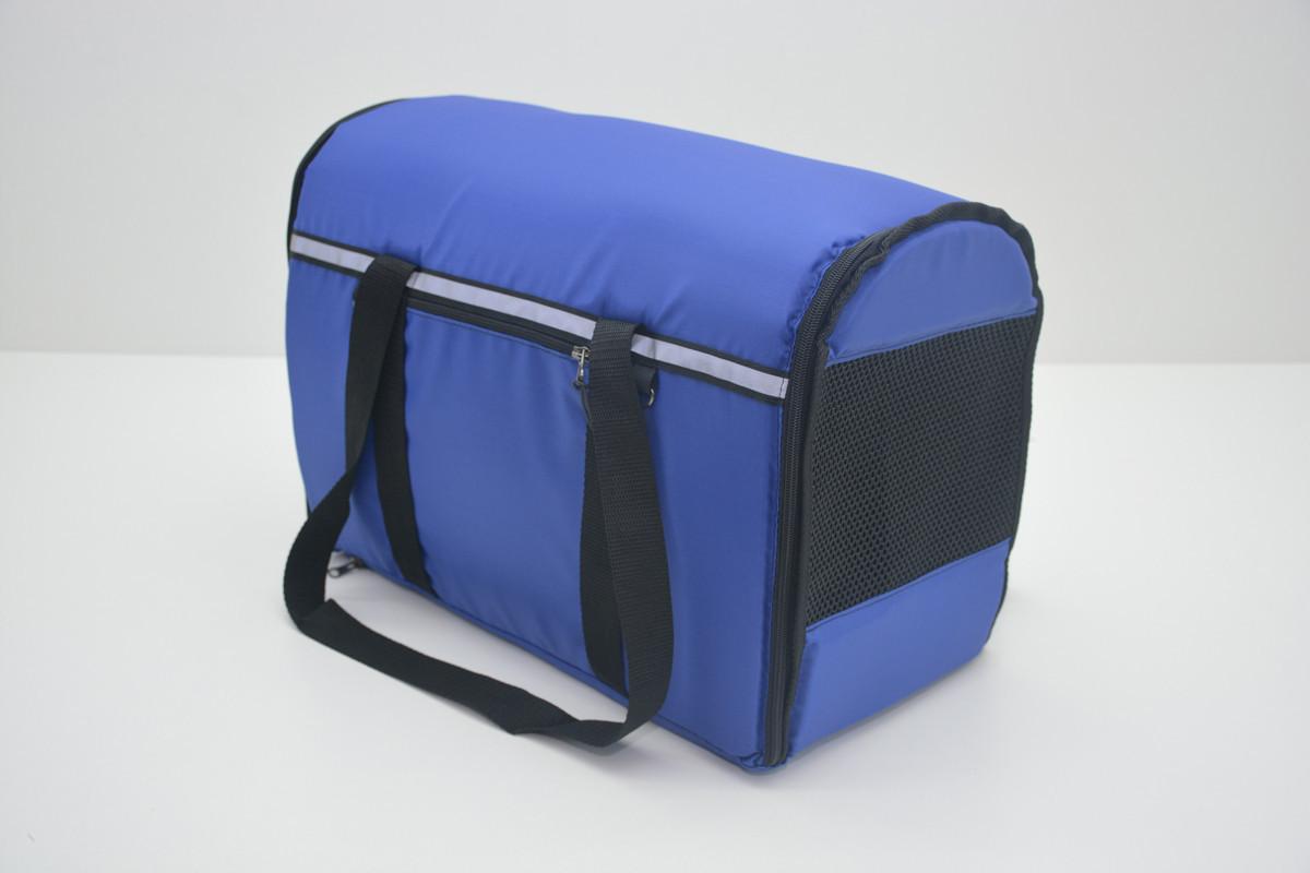 Сумка переноска матрас для собак котов Турист №2 300х500х370 синяя