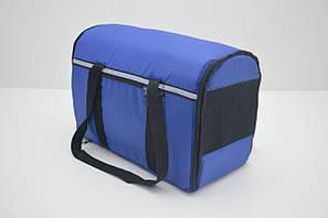 Сумка переноска матрас для собак котов Турист №2 300х500х370 синяя, фото 2
