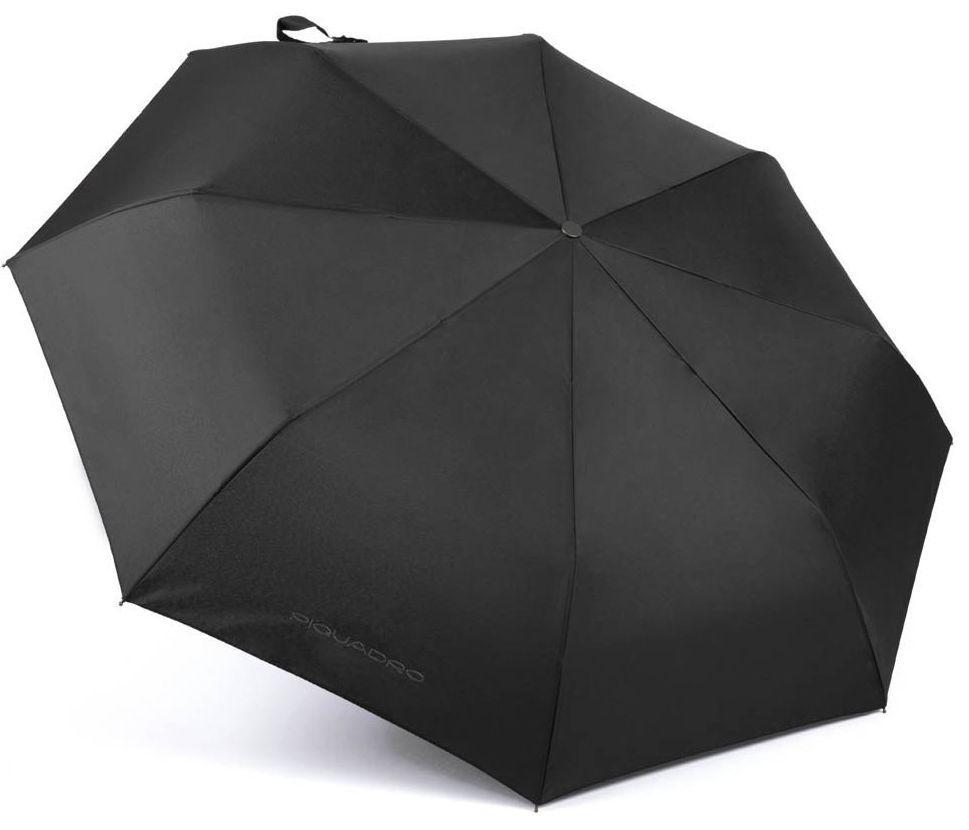 Складной зонт автомат Piquadro черный