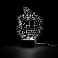 Яблоко Apple: Оптический обман, превращающий 2D светильник в 3D
