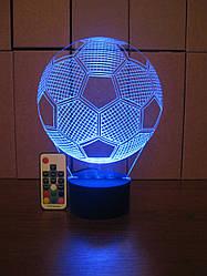 3d-світильник Футбольний м'яч, 3д-нічник, кілька підсвічувань (на пульті)