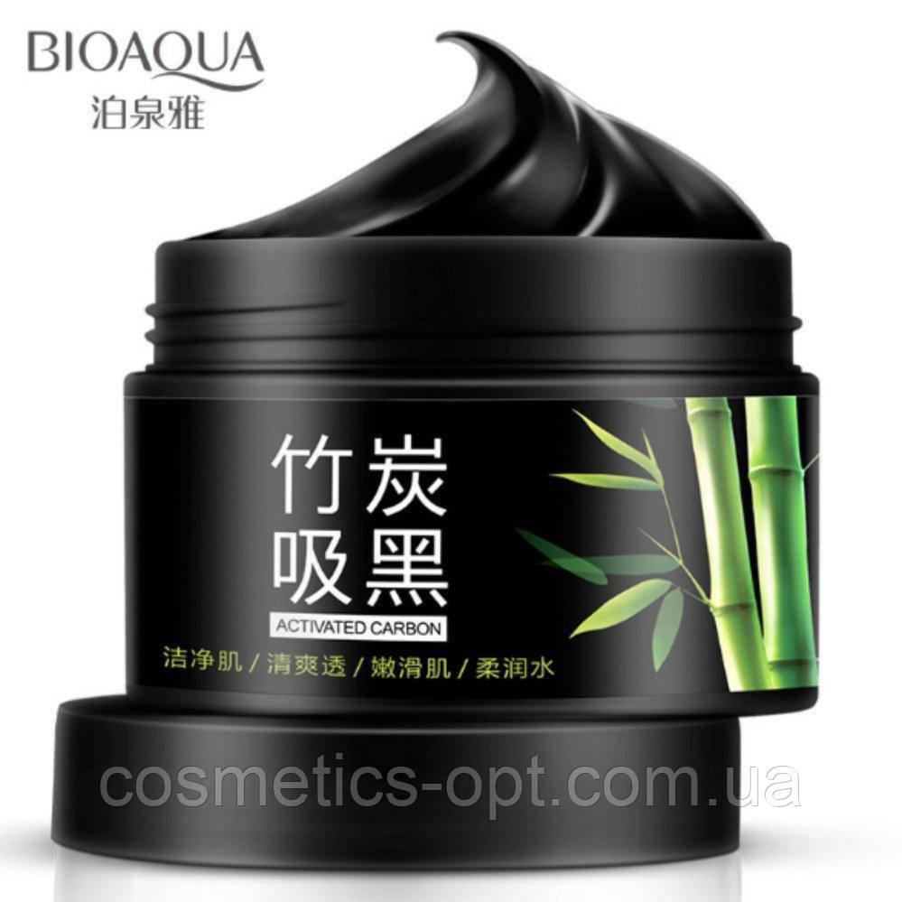 Глубоко очищающая маска на основе бамбукового угля BIOAQUA Bamboo Charcoal Washing Mask, 140 г