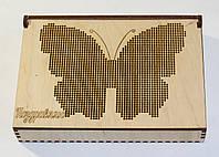 Набор для творчества шкатулка для рукоделия вышивка бисером Kalinin арт 8006