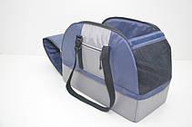 Сумка переноска лежак 2 в 1 для собак і котів Гармонія синя, фото 3