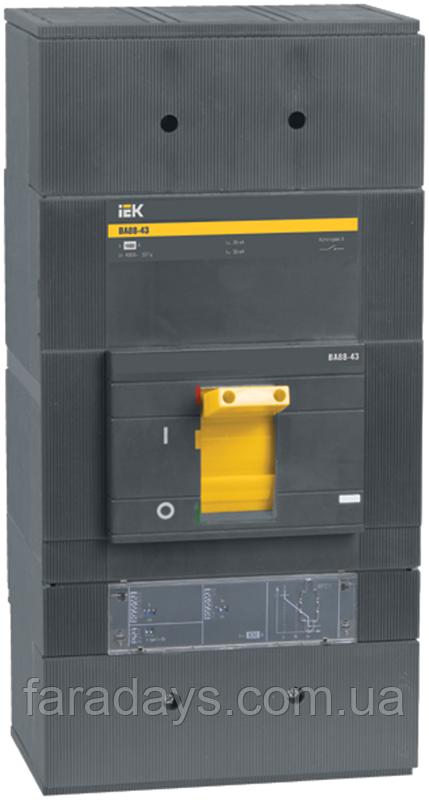 Автоматичний вимикач 3р, 1250A, 50кА,  з електронним розчіплювачем  (ВА88-43 з розч. МР211 IEK)