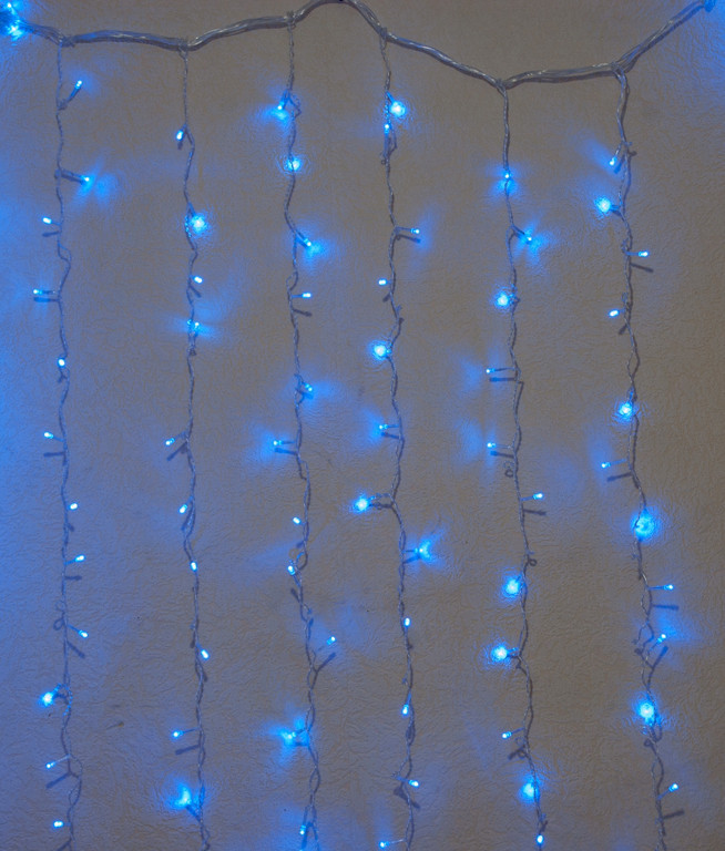 "Гирлянда штора внутренняя ""Занавес/curtain"" 2,0mх2,0m, 320 LED, синяя"