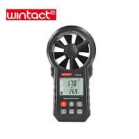 Анемометр Wintact WT87B (0,20-30,00 м/с; 99990 м3/м) з USB-інтерфейсом, гігрометром і термометром