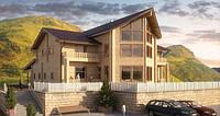 """Гостиница-ресторан из легких металлических конструкций """"Карадаг""""."""