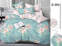 Полуторный комплект постельного белья с компаньоном на молнии сатин люкс 100% хлопок S364
