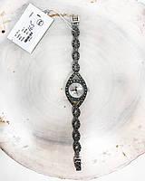 Годинник з крапельного срібла 925 Beauty Bar камені марказиты на вузьку руку 16,5 см