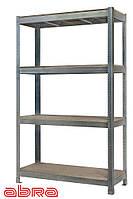 Стеллаж металлический для склада/магазина/гаража ЧК-500 2500х920х460,оцинкованный,4 полки ДСП, до 800 кг/полку