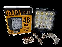 LED фара квадратна (48 Вт 16 діодів), фото 1