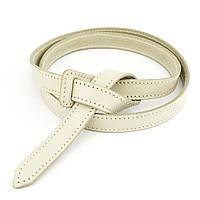 Женский кожаный ремень-узел без пряжки KB-K20 cream (2 см), фото 1