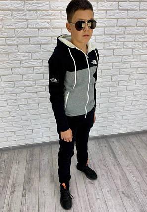 """Подростковый теплый спортивный костюм """"The North Face"""" с мехом на капюшоне, фото 2"""
